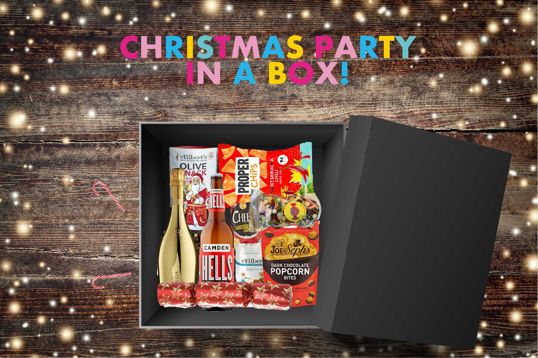 Christmas Party in a Box, Christmas Box, Christmas Ideas for Work, Works Christmas Party