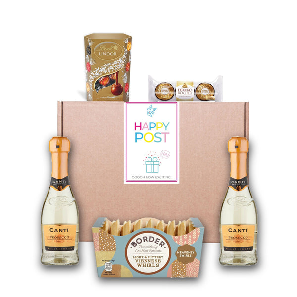 Prosecco & Chocolate Hamper Gourmet Gift Basket For Women, Men, Couples