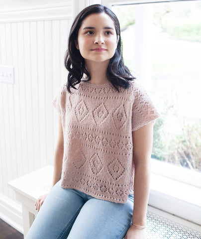 Boxy Lace Tee Using Rowan Alpaca Classic