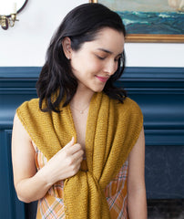 Demi Lune Scarf Using Shibui Silk Cloud & Shibui Reed