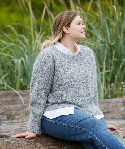 Easy Relaxed Pullover Using Rowan Kidsilk Haze & Fine Lace