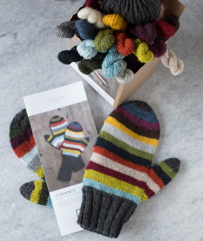 21 Color Mitts Kit Using Blue Sky Fibers Woolstok