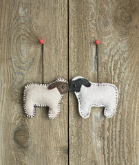 Felt Sheep Ornament Kit