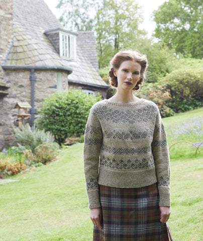 Angelica Pullover Using Rowan Felted Tweed