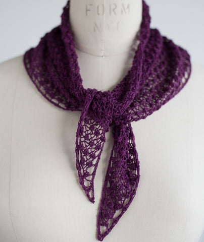 Blackberry Kerchief Using Shibui Reed