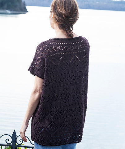 Boxy Lace Tee Using Hemp for Knitting allhemp6