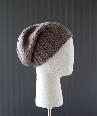 Boyfriend Watch Cap Using Blue Sky Organic Cotton Worsted