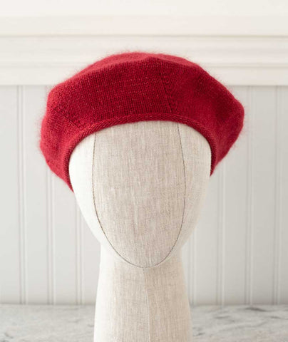 Cashmere Beret Using Shibui Birch and Silk Cloud