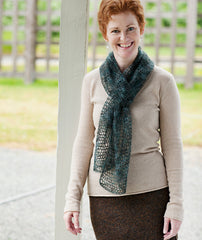 Kelly's Frothy Crocheted Scarf & Wrap Pattern