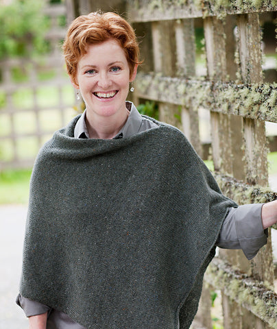 Easy Folded Poncho Pattern Churchmouse Yarns Teas