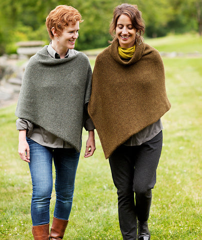 Easy Folded Poncho Using Rowan Felted Tweed