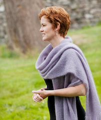 Simple Mohair Wrap & Afghan (in 2 gauges) Pattern