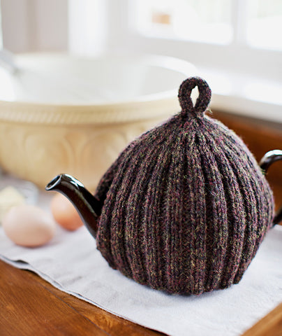 Ribbed Ruffled Tea Cozies Pattern Churchmouse Yarns Teas