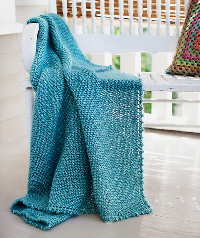 Picot-Edge Mohair Throw (in 2 gauges) Pattern
