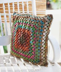 One Big Granny Square Throw & Afghan (plus a Pillow Top) Pattern