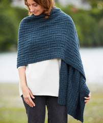 Big & Bigger Basketweave Wrap Pattern