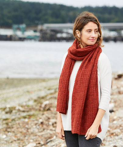 Big & Bigger Basketweave Wrap Using Rowan Moordale
