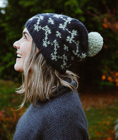 Simple Colorwork Slouch Hats Using Wool and the Gang Alpachino Merino