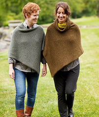 Easy Folded Poncho Using Blue Sky Baby Alpaca