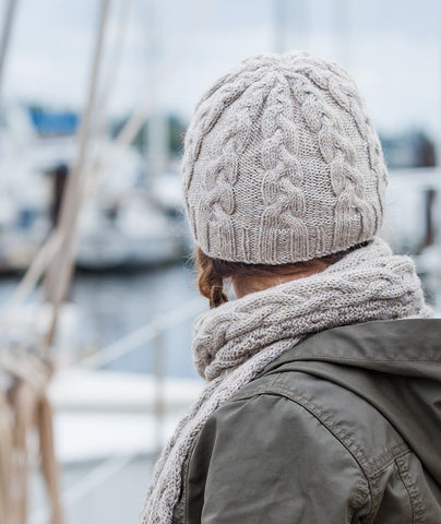 Fair Winds Beanie & Scarf Using Berroco Ultra Alpaca