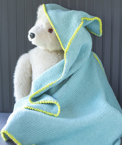 Georgie Blanket Using Blue Sky Fibers Organic Cotton Worsted