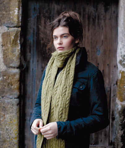 Grasmoor Scarf Using Rowan Moordale