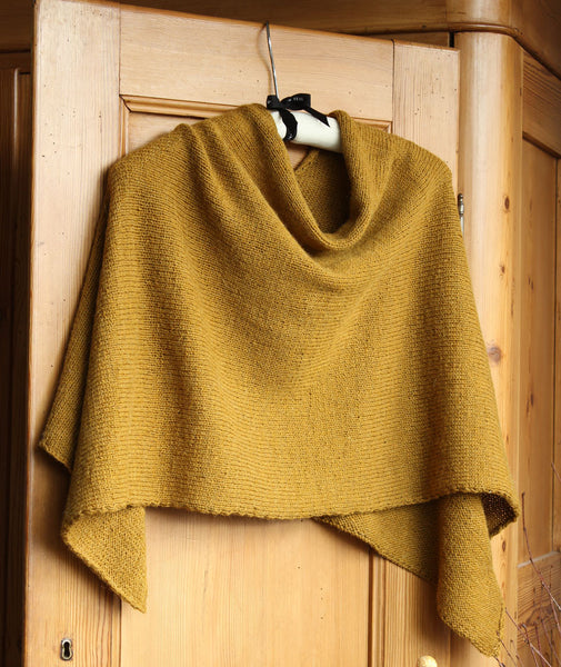 Easy Folded Poncho Using Isager Spinni Wool 1 Alpaca