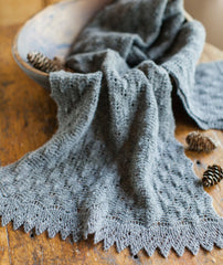 Fir Cone Lace Scarf Using Isager Spinni Wool 1
