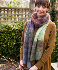 Color Play Mohair Scarf & Wrap Pattern