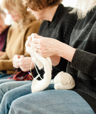 Knitting with Company: An Island Retreat