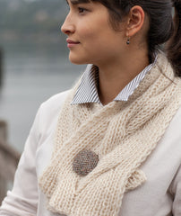 Reversible Cable Neck Wrap & Scarf Pattern
