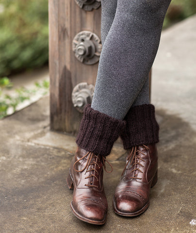 Cozy Boot Cuffs Using Jamieson's Shetland Heather Aran