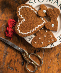 Felted Gingerbread Ornaments Pattern
