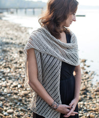 Diagonal Lace Scarf & Wrap Pattern