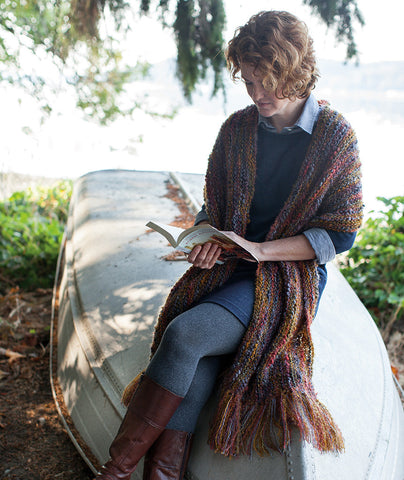 Magic Three-Yarn Wrap & Throw Using Fleece Artist & Hand Maiden