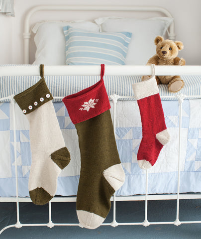 Basic Christmas Stockings Using Brown Sheep Lamb's Pride