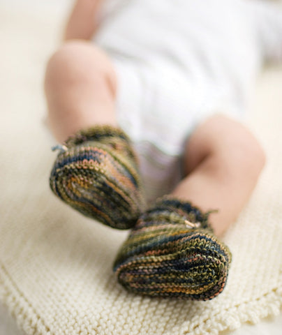 Stay On Baby Booties In 3 Gauges Pattern Churchmouse Yarns Teas