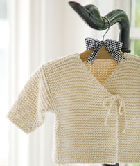 Easy Peasy Baby Jacket Using Blue Sky Organic Cotton Worsted