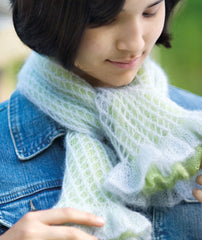 Two-Way Ruffled Scarf Pattern