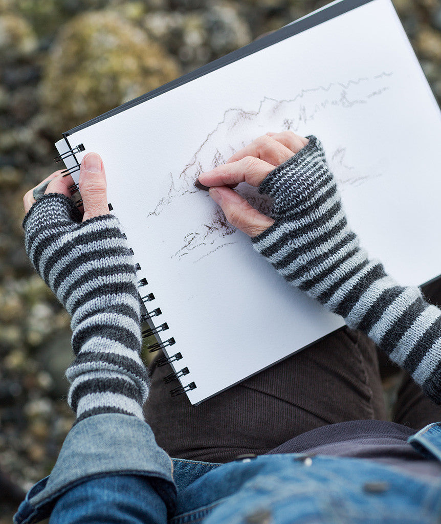 Accelerating Stripes Fingerless Gloves & Cowl Pattern – Churchmouse ...