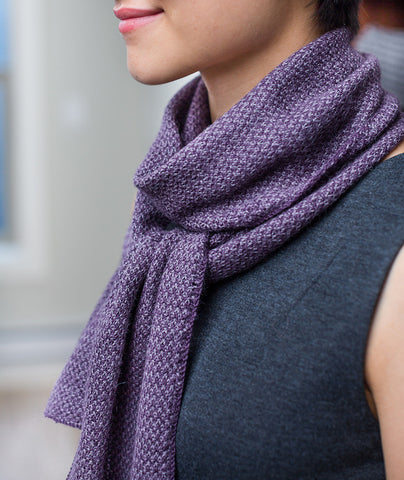 Two-Tone Twill Scarf Using Rowan Fine Lace
