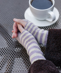 Accelerating Stripes Fingerless Gloves & Cowl Pattern