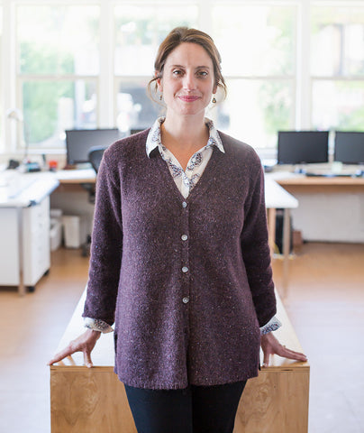 Go-To Cardigan Using Rowan Felted Tweed