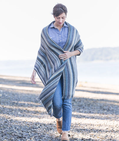 Striped Linen Stitch Wrap & Scarf Pattern