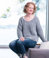 Slouchy Pullover - Rowan Brushed Fleece Version
