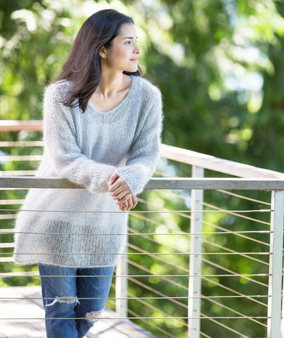 Slouchy Pullover Using Rowan Kidsilk Haze
