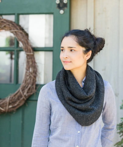 Tapered Cowl Using Blue Sky Fibers Baby Alpaca