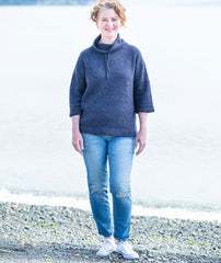 Funnel Neck Pullover Using Rowan Felted Tweed