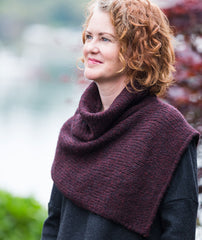 Two-Point Cowl Using Rowan Brushed Fleece