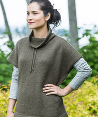 Funnel Neck Pullover Using Shibui Cima and Twig